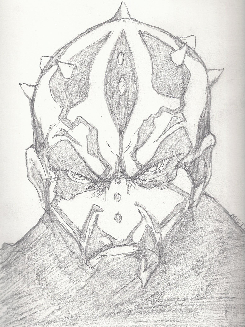 Darth Maul face Sketch - Mifty is Bored