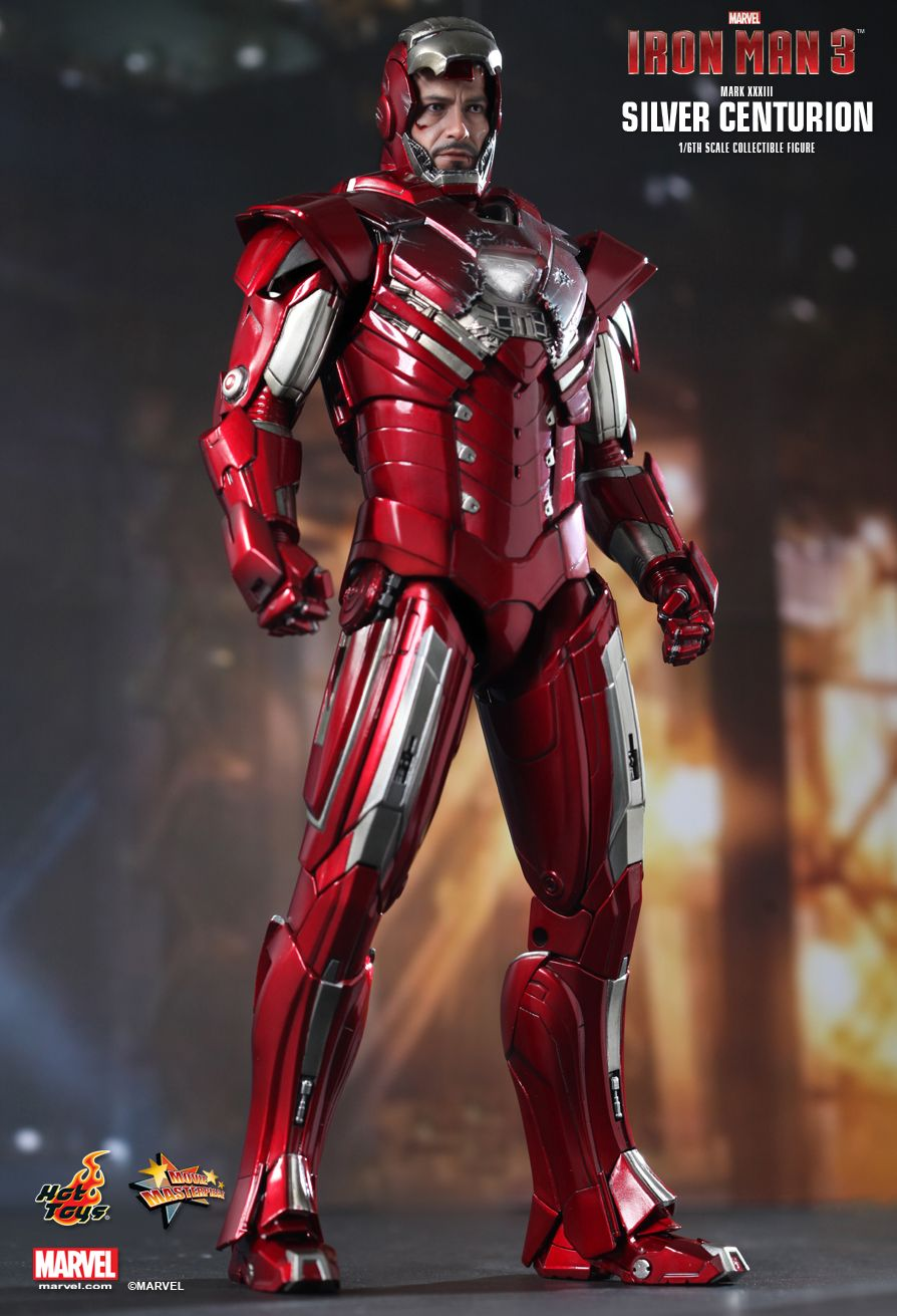 Iron Man Mark XXXIII - Silver Centurion by Hot Toys ...