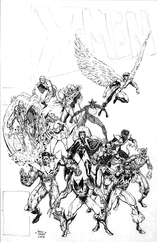 Arthur Adams - Classic X-Men sketch 1