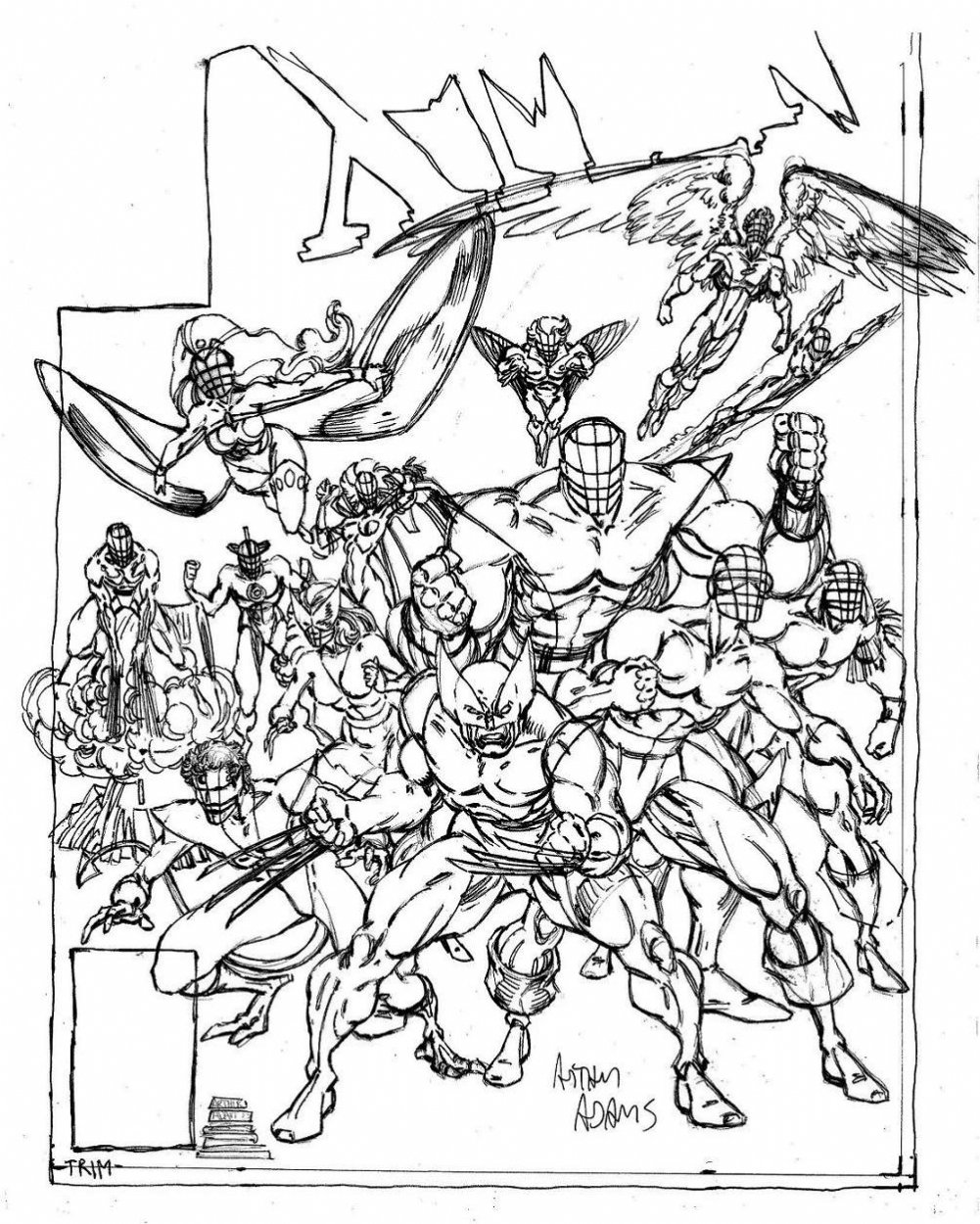 Arthur Adams - Classic X-Men sketch 2