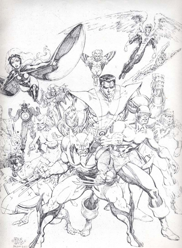 Arthur Adams - Classic X-Men sketch 2a