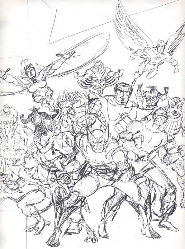 Classic-X-Men-John-Romita-Sr-sketch