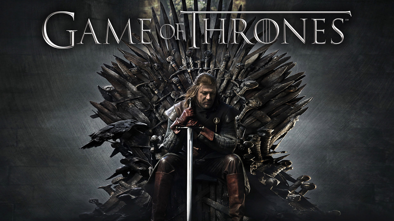 Ned Stark Game of Thrones on the Iron Throne