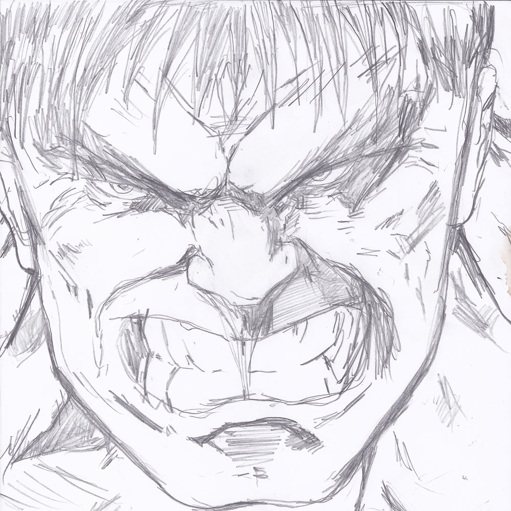 Hulk Face Line Drawing : Hulk face closeup sketch mifty is bored