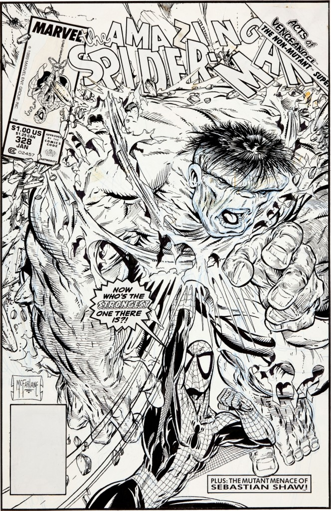 $657,250 Todd McFarlane Spiderman Art
